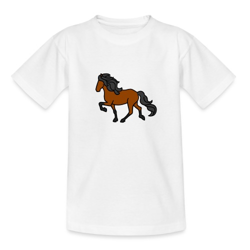 Islandpferd, Brauner, heller - Teenager T-Shirt