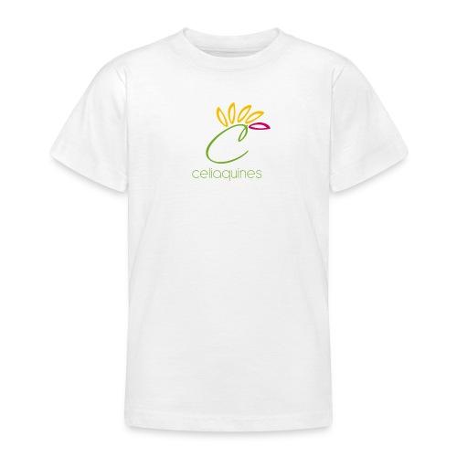 logo letrasverdes png - Camiseta adolescente