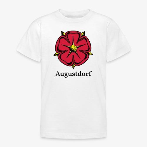Lippische Rose mit Unterschrift Augustdorf - Teenager T-Shirt