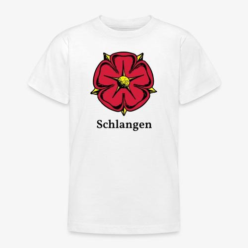 Lippische Rose mit Unterschrift Schlangen - Teenager T-Shirt