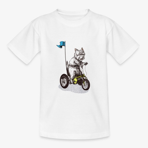 West Highland Terrier Tricycle - Teenage T-Shirt