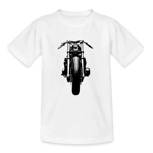 Motorcycle Front - Teenage T-Shirt