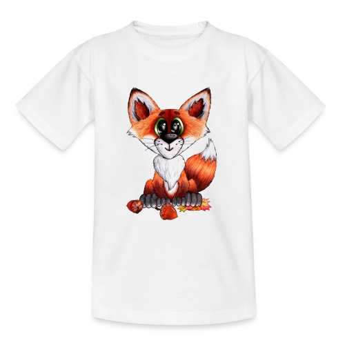 llwynogyn - a little red fox - Teenager-T-shirt