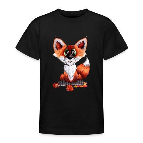 llwynogyn - a little red fox - Nuorten t-paita