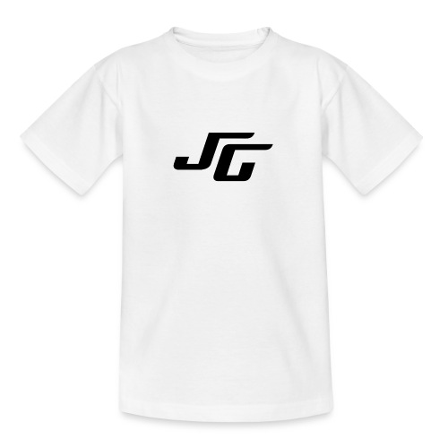 JG Logo schwarz - Teenager T-Shirt