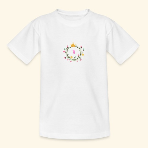 Prinzessin 1. Geburtstag Floral - Teenager T-Shirt