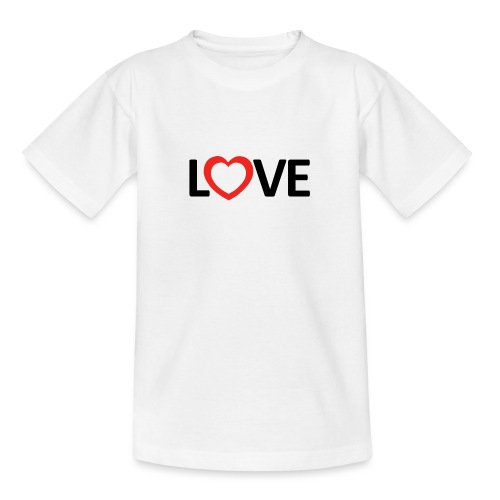 Love - Camiseta adolescente