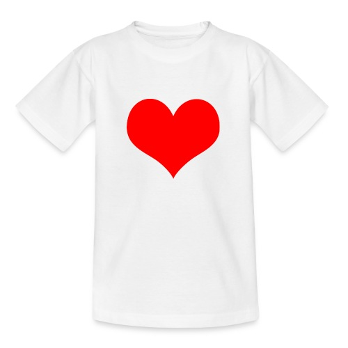 rotes Herz - Teenager T-Shirt