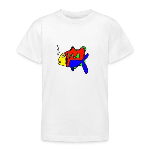 Tusche Fisch --- one line - Teenager T-Shirt