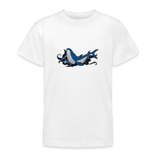 Doodle ink Whale - Maglietta per ragazzi
