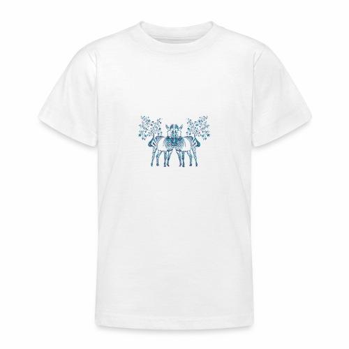zebra hojas de palmeras - Camiseta adolescente