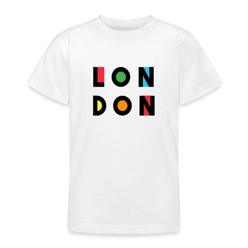 Vintage London Souvenir - Retro Modern Art London - Teenager T-Shirt