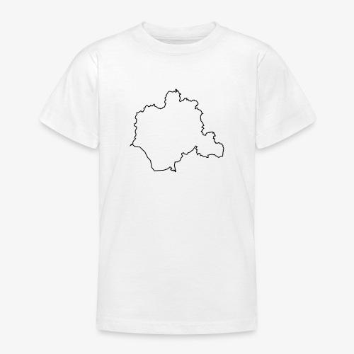 Kontur des Kreises Lippe - Teenager T-Shirt