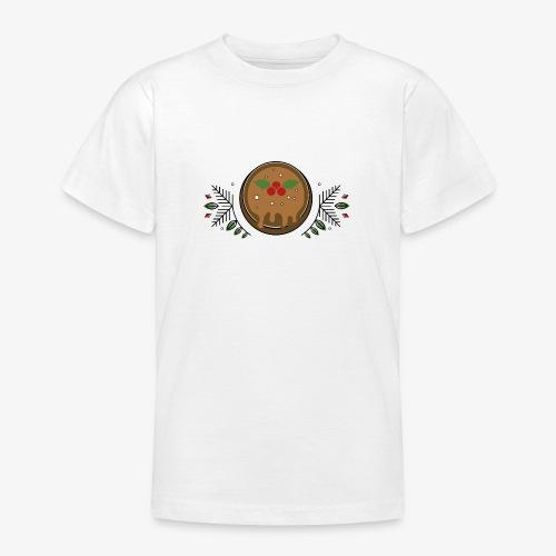 CHRISTMAS PUDDING - Teenage T-Shirt