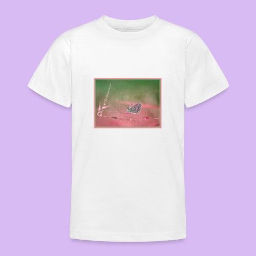 Farfalla nella pioggia leggera - Maglietta per ragazzi