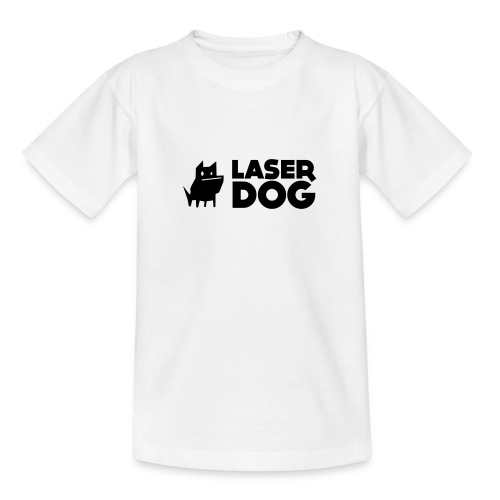 Laser Dog Logo - Teenage T-Shirt