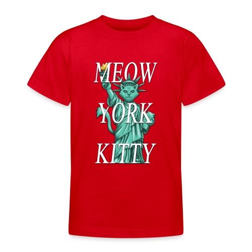 Meow York Kitty - Teenage T-Shirt