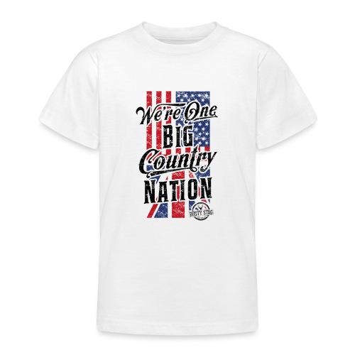 Country Nation Ladies Scoop Tee - Teenage T-Shirt