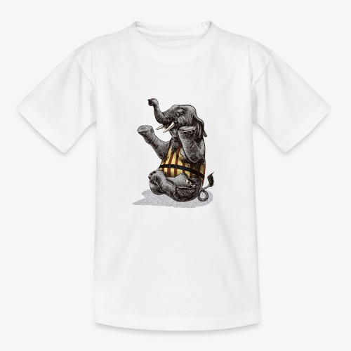 Elephant Yoga - Teenage T-Shirt