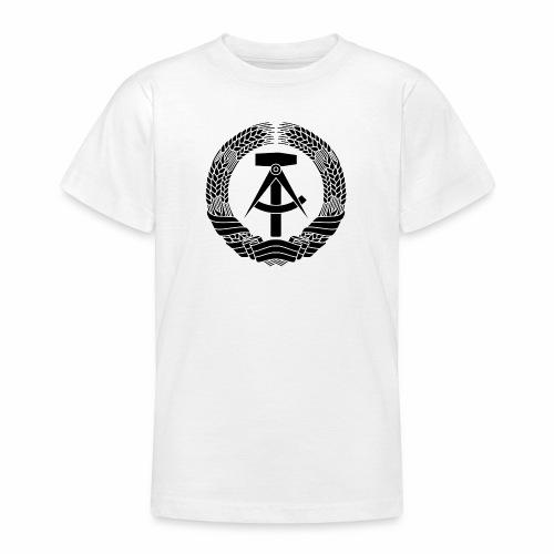 DDR Wappen (schwarz) - Teenage T-Shirt