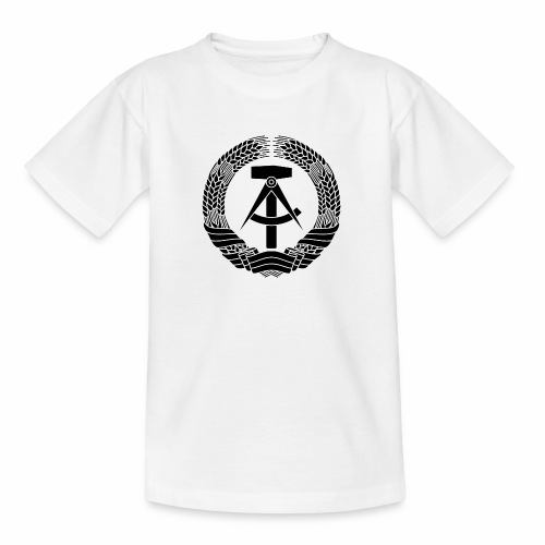 DDR coat of arms (black) - Teenage T-Shirt