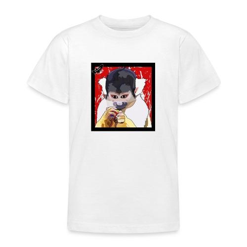 'Clever Monkey 2' by BlackenedMoonArts, w. logo - Teenager-T-shirt