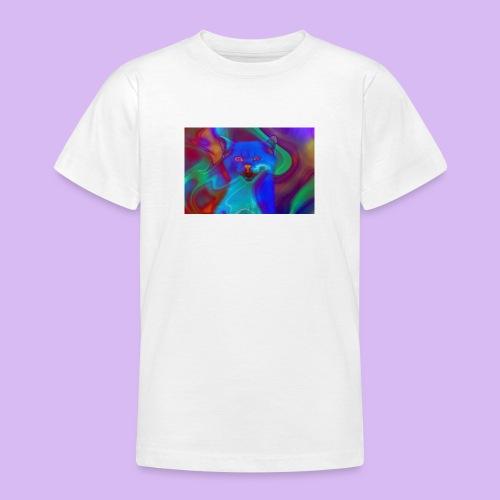 Gattino con effetti neon surreali - Maglietta per ragazzi