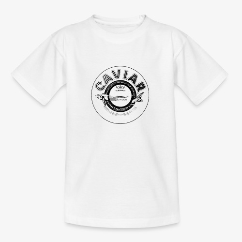 Caviar Black / White - Teenage T-Shirt