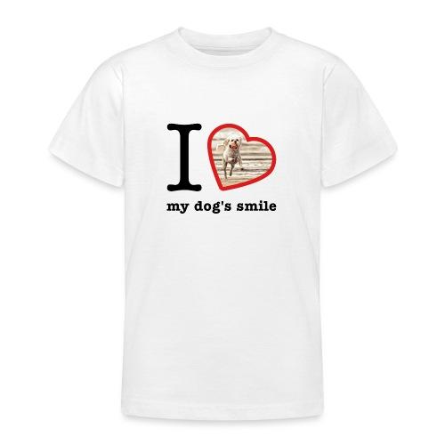 I love my dog's smile :) dog smile - Teenage T-Shirt