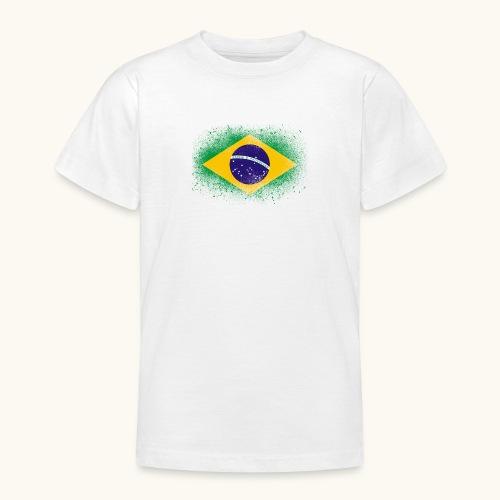 Drapeau brésilien cadeau du Brésil - T-shirt Ado