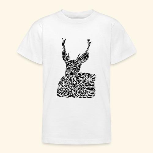 deer black and white - Nuorten t-paita