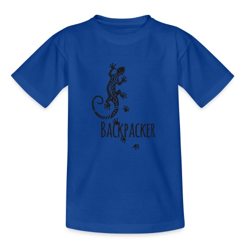 Backpacker - Running Ethno Gecko 1 - Teenager T-Shirt