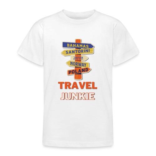 traveljunkie - i like to travel - Teenager T-Shirt