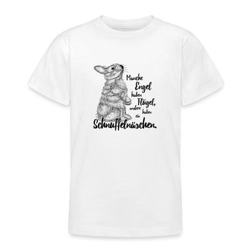 Kaninchen Hasen Zwergkaninchen Engel Liebe - Teenager T-Shirt