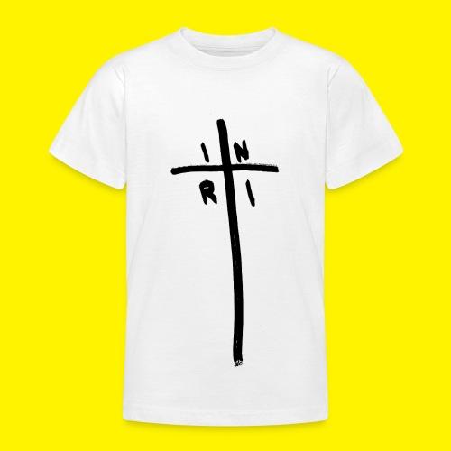 Cross - INRI (Jesus of Nazareth King of Jews) - Teenage T-Shirt
