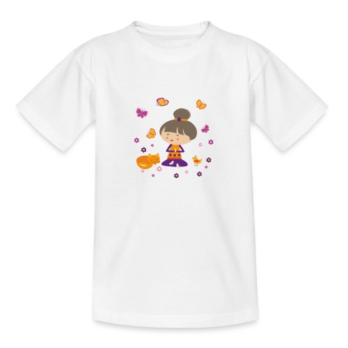 Happy Meitli - Yoga und Meditation - Teenager T-Shirt