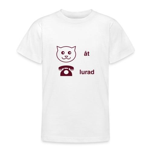 Katt åt telefon - T-shirt tonåring