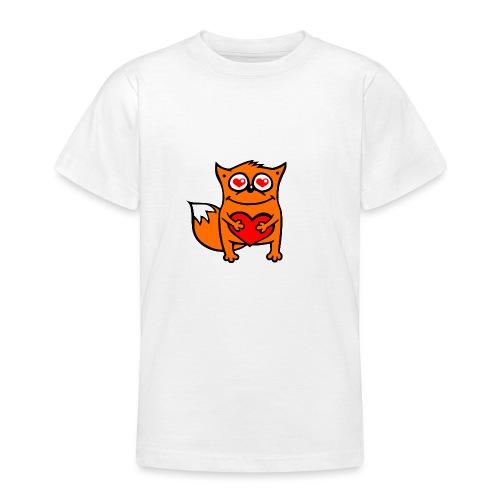 verliebter Fuchs - Herz rot T-Shirts - Teenager T-Shirt