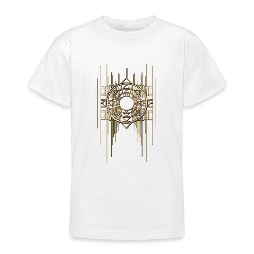 Abstract Geometry Gold Metal Art Deco Vintage - Teenage T-Shirt