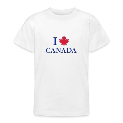 I love Canada Ahornblatt Kanada Vancouver Ottawa - Teenager T-Shirt