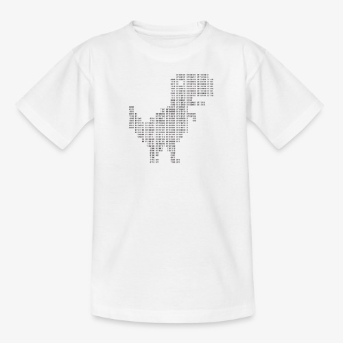Dinosaur Binary | Google dinosaur | 404 | T-rex | - Teenage T-Shirt