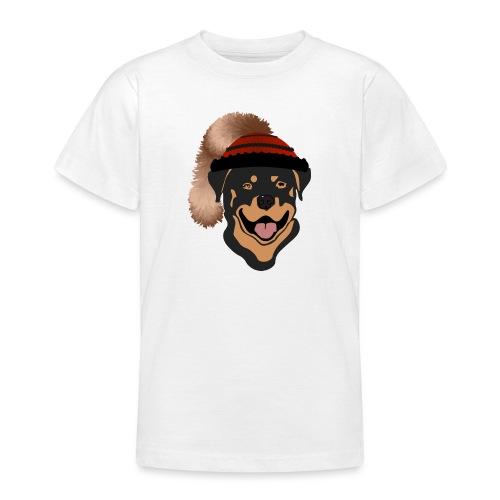 Rottweiler mit Wadelkappe - Teenager T-Shirt