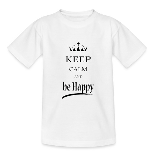 keep_calm and_be_happy-01 - Maglietta per ragazzi