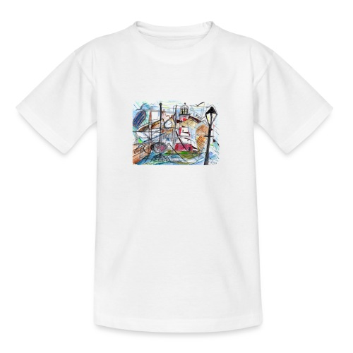 Smeaton's Tower & Plymouth Hoe/Barbican - Teenage T-Shirt