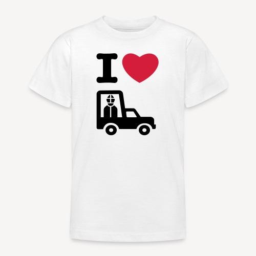 Papst im Auto - Teenage T-Shirt
