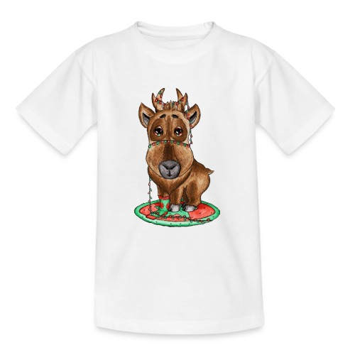 Reindeer refined scribblesirii - Teenager-T-shirt