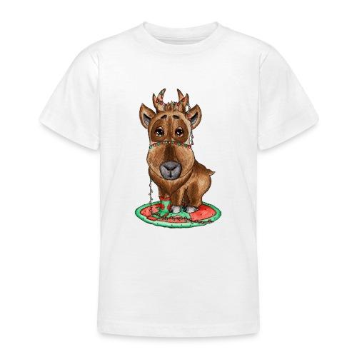 Reindeer refined scribblesirii - Teenager-T-shirt