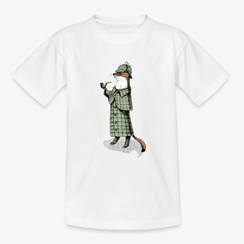 Stoat Detective - Teenage T-Shirt