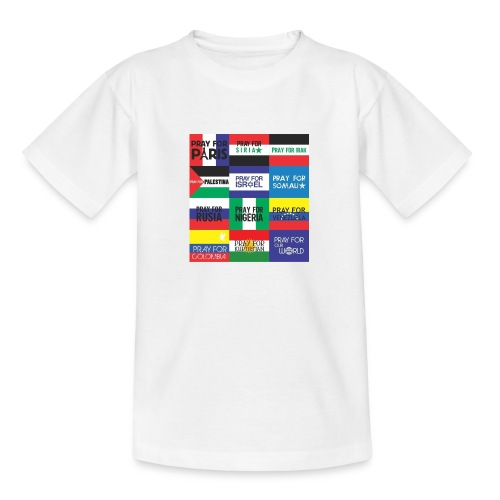 Pray for the World - Teenager T-shirt