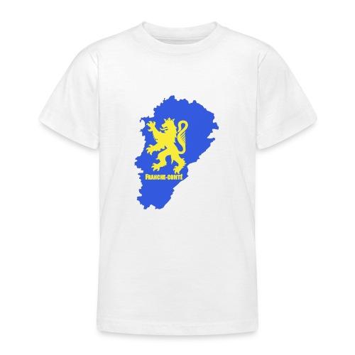 Carte Franche-Comté + lion - T-shirt Ado